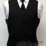 Black Full Back Vest