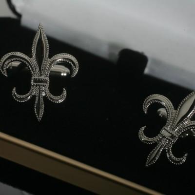 Silver Fleur-di-lis Links
