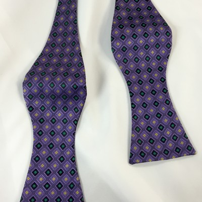 Mardi Gras Jewel Self Tie Bow Tie