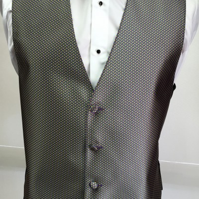 Mardi Gras Geometric Vest and Bow Tie Retail
