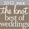Voted Best of Weddings 2012 by The Knot