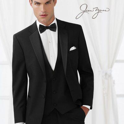 Jean Yves Black 2 Button Suit