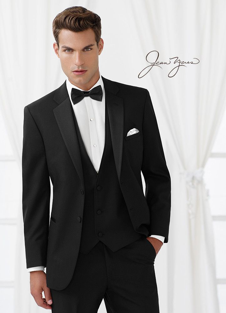 Jean yves black 2 button suit johns tuxedo jean yves black 2 button suit junglespirit Choice Image
