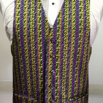 Mardi Gras Hypno Vest and Bow Tie Retail