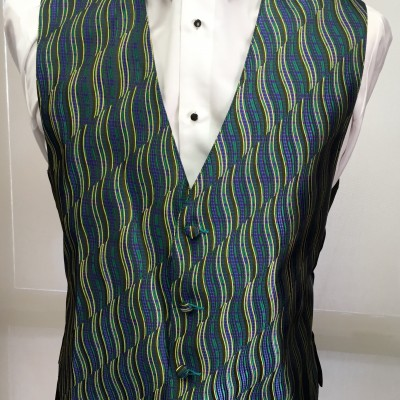 Mardi Gras Swirl Vest and Bow Tie Retail