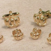 Mardi Gras Raised Crown Cufflink