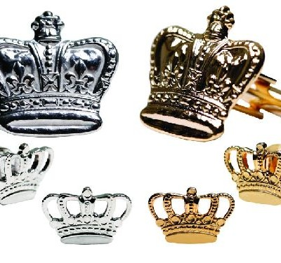 Mardi Gras Filigree Crown Cufflinks