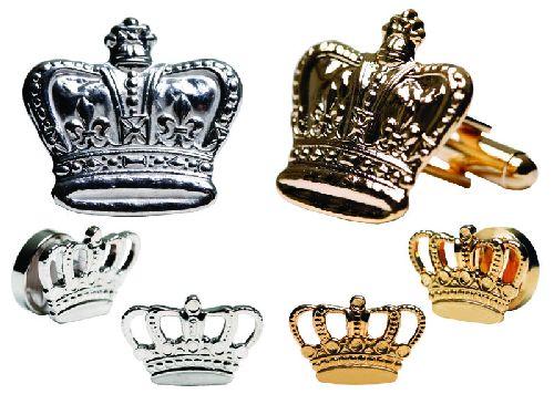 Mardi Gras Filigree Crown Cufflinks