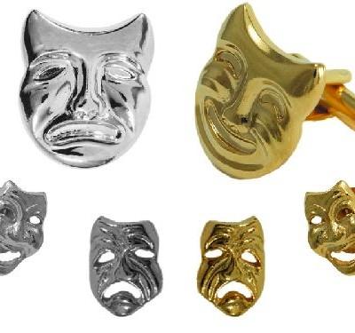 Mardi Gras Mask Cufflink