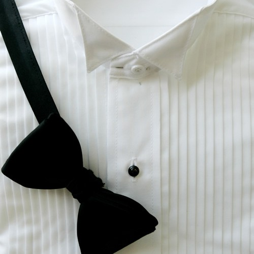 White microfiber wing tip collar shirt john 39 s tuxedo for Tuxedo shirt wing tip