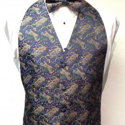Mardi Gras Masquerade Vest and Bow Tie