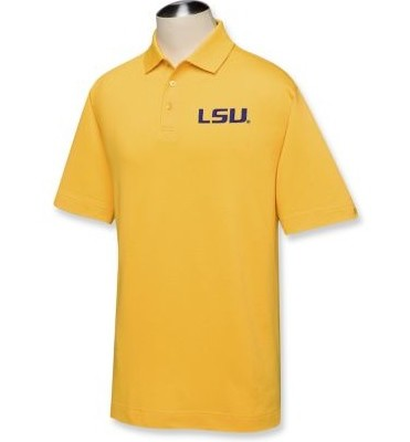 LSU Tigers DryTec Championship Polo College Gold
