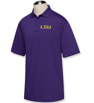 LSU Tigers DryTec Championship Polo College Purple
