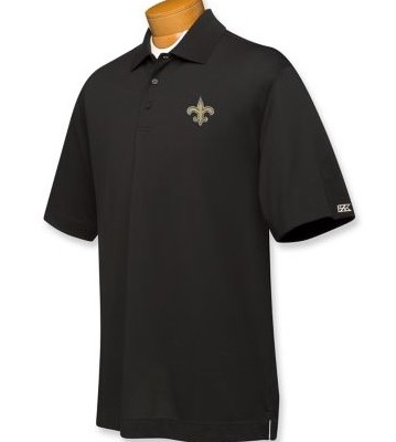 New Orleans Saints DryTec Championship Polo Black