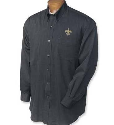 New Orleans Saints Men's Nailshead Sport Shirt Black