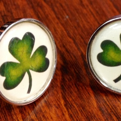 Color Shamrock Cufflinks