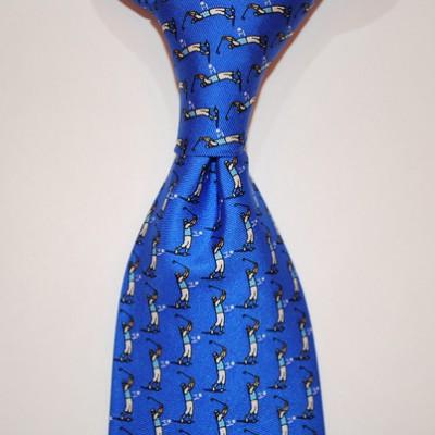 Tee It Up! Golfer Tie Blue