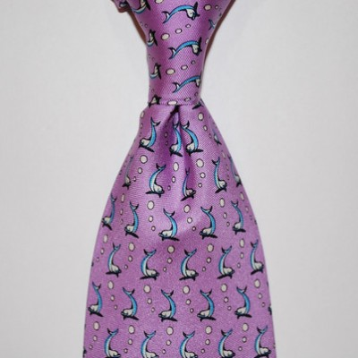 Twisted Fin Dolphin Tie Purple