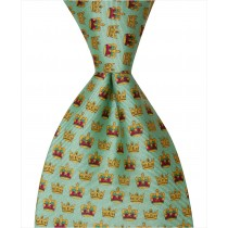 Mardi Gras Crown Tie - Green