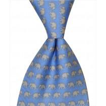 Elephant Tie - Blue