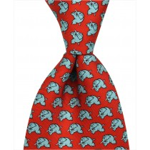 Elephant Charging Tie - Red