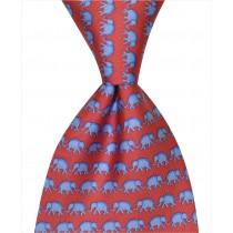 Elephant Tie - Red