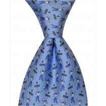 Mardi Gras Flambeau Tie - Blue