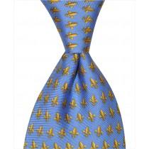 Fleur De Lis Tie - Blue