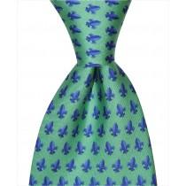 Fleur De Lis Tie - Green