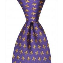Fleur De Lis Tie - Purple