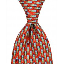 Ice Cream Cones Tie - Red