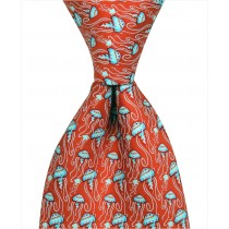 Jellyfish Tie - Red