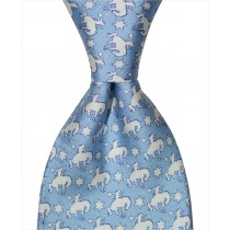 Buckin Bronco Tie - Blue