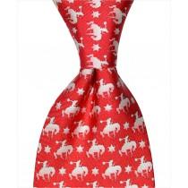Buckin Bronco Tie - Red
