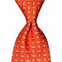 Marlin and Star Tie - Orange