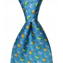 Multi-Fish Tie - Blue