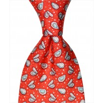 Oyster and Pearl Tie - Red