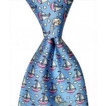 Sailboat Tie - Blue