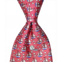 Sailboat Tie - Red