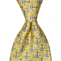 Sailboat Tie - Yellow