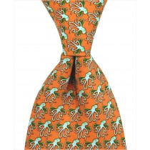 Octopus Tie - Orange