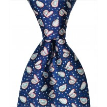 Oyster and Pearl Tie - Navy