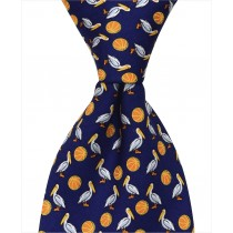 Pelican Basketball Tie - Navy