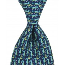 Seahorse Tie - Navy