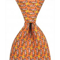 Seahorse Tie - Orange