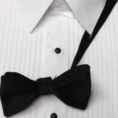 White Microfiber Laydown Collar Shirt