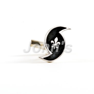 Eye of the Hurricane Sterling Cufflink
