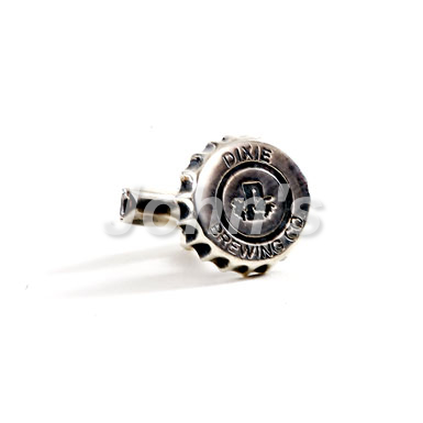 Dixie Bottle Cap Sterling Cufflink