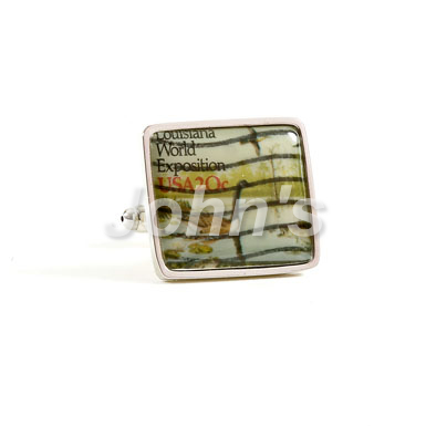 Louisiana World Expo Stamp Cufflink