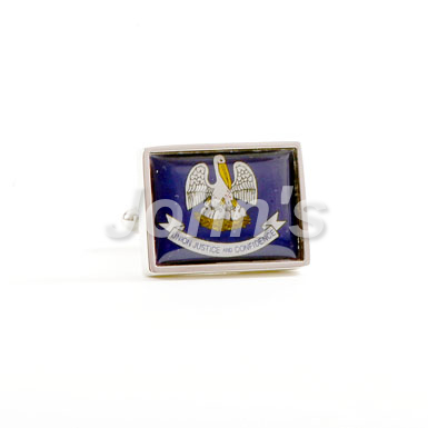 Louisiana Flag Cufflink